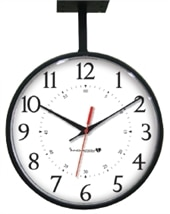 """13"""" Ceiling Mount, Double Sided Clock"""