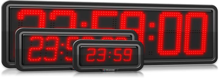 Weatherproof LED Digital Display Clocks