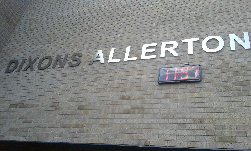 Weatherproof Clock at Dixons Allerton Academy, Bradford