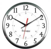 """13"""" Brushed Aluminium WiFi Clock"""