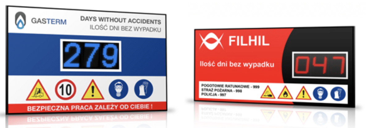 Days Without Accident Sign Design Examples