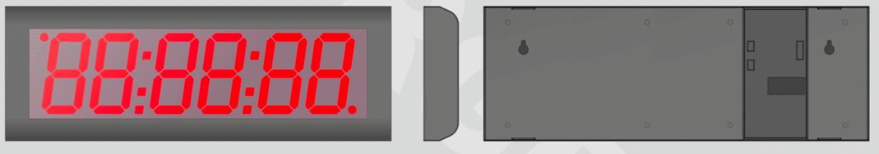 Indoor Digital Clock ZBS-10 PoE Technical Drawing