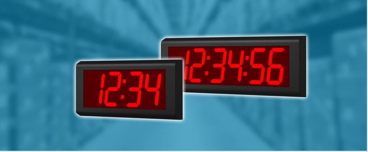 Indoor Digital Clocks ZAS-10 and ZBS-10