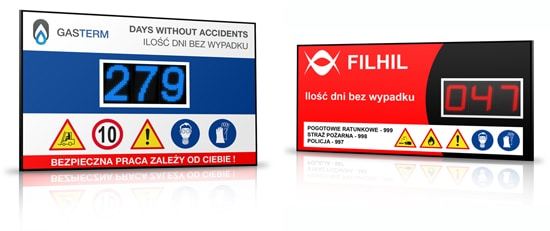 Days Without Accident Signs